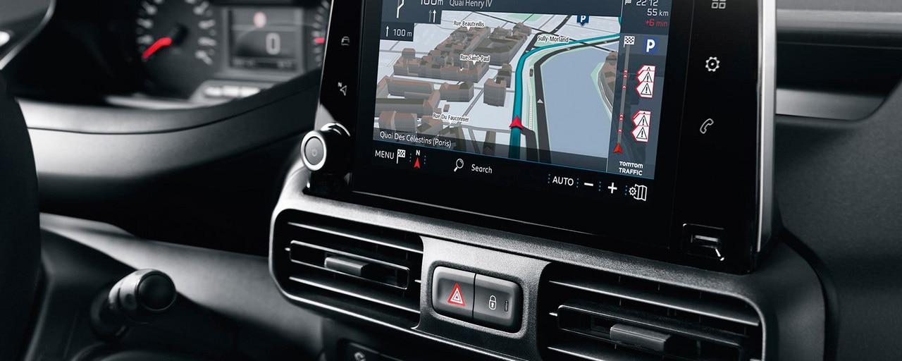 """NOUVEAU PEUGEOT PARTNER navigation 3D connectée technologie Mirror Screen écran tactile 8"""""""